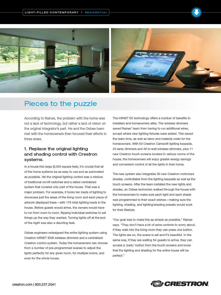 Articles Osbee Crestron Lighting Dimmer Wire Diagram Case Study Of Project Featuring Automation