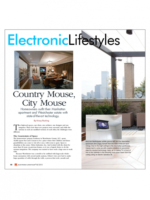 Electronic Lifestyles - Country Mouse, City Mouse