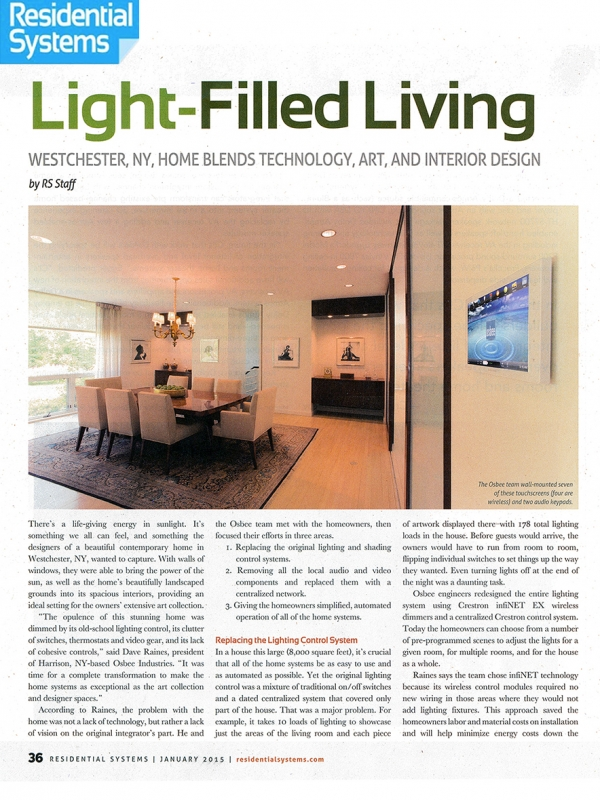 Residential Systems: Light-Filled Living