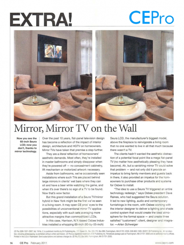 CE Pro - Mirror, Mirror TV on the Wall