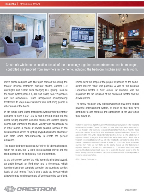 Crestron Case Study - Entertainment Marvel